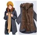 ¡ Venta caliente! fertilizantes suelta ropa de talla grande de las mujeres abrigos de moda de invierno larga chaqueta de abrigo de las mujeres prendas de vestir exteriores 6XL medio-largo