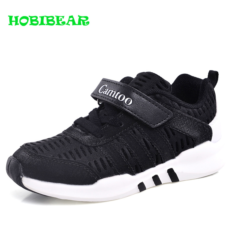 2019 Sport Kids Unisex Shoes Breathable Children Running Boys Shoes Comfortable Girls Jogging Sneakers Black Pink School Shoes
