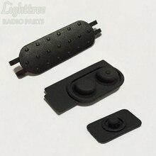 10setsX  PTT Button And Rubber For Motorola DEP550 XIR P6620 P6600 P6620i