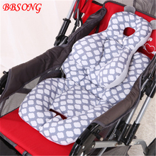 BBSONG Baby Stroller Seat Pad Warm Cotton Cushion Mattresses Child Carriage Cart Toddler Mat Kids Chair Soft
