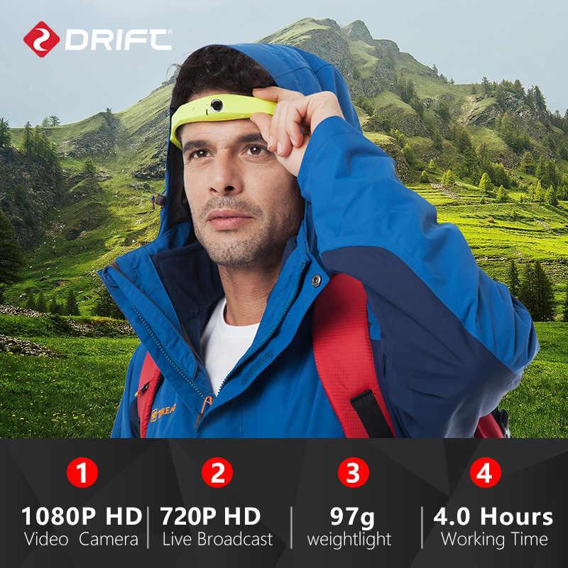 Originale DRIFT Indossabile macchina fotografica Macchina Fotografica di Azione di 1080P HD macchina fotografica del Casco di usura del corpo della macchina fotografica di Sport cam con WiFi cam di vetro macchina fotografica
