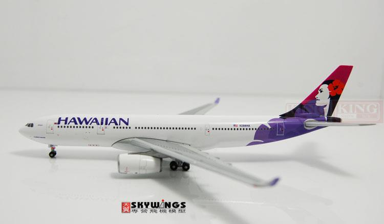 GJHAL1281 GeminiJets Hawaii Airlines N384HA 1:400 commercial jetliners plane model hobby A330-200 spike wings xx4502 jc turkey airlines b777 300er san francisco 1 400 commercial jetliners plane model hobby