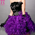 Corsé tutu falda, m xl xxl, mujeres satén suave 6 capas sexy faldas góticas, verde blanco negro rojo rosa púrpura azul, lolita clubwear