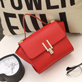2016 New Women Fashion Small Trapeze Tote Lichee PU Leather Mini Shoulder Messenger Bags New Design Wing Handbags Female Bolsas