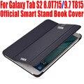 50 unids/lote oficial de diseño elegante de la cubierta de libro para samsung galaxy tab s2 8.0 t715 9.7 t815 soporte tableta delgada de la pu leather case t701