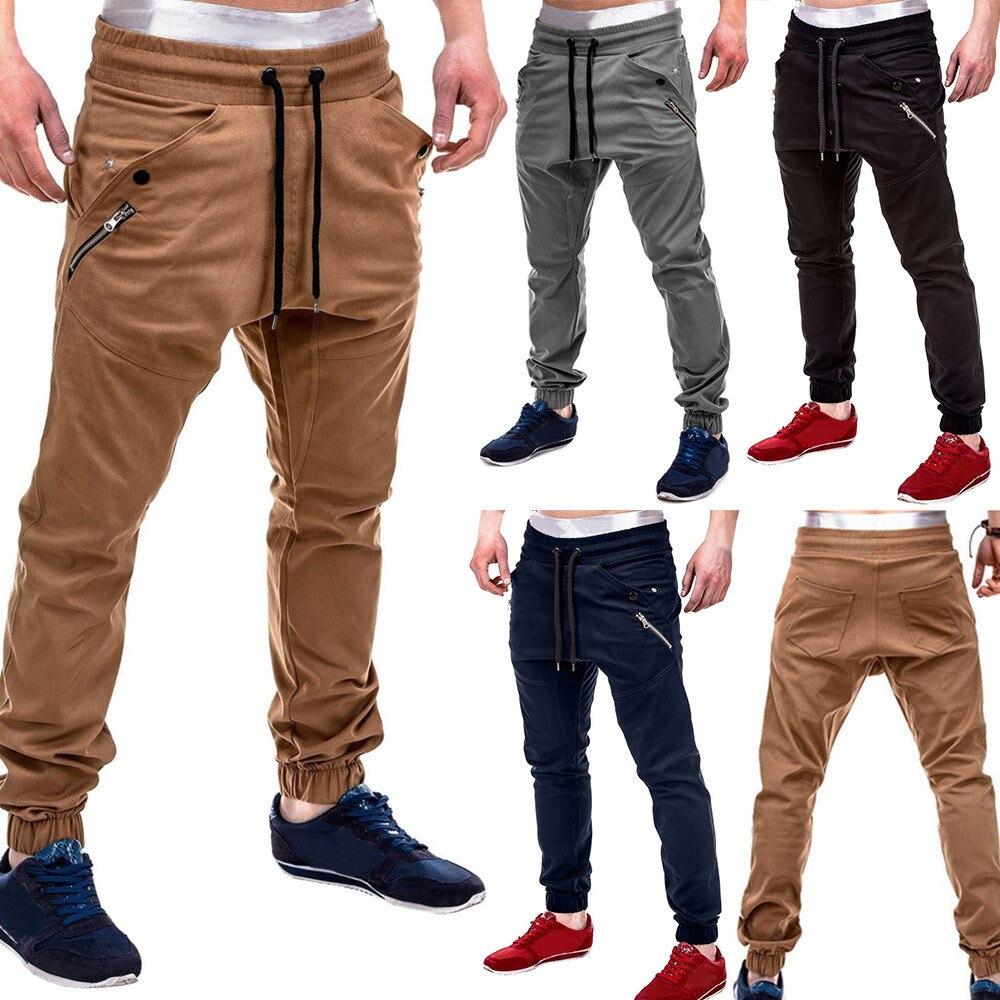 2019 Neue Stil Heiße Verkäufe Mode Männer Zipper Patchwork Baumwolle Casual Jogginghose Kordelzug Hose Hohe Qualität Verkäufe Exzellente QualitäT