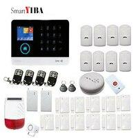 SmartYIBA Anti Thief Alarm System Wireless WIFI GSM Alarm for Smart House Office Burglar Alarm Home Security Alarm APP Control