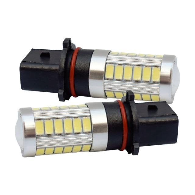 2PCS P13W 33 SMD 5630 5730 LED Auto Fog Lamps High Power 33 LED Car anti fog Bulb Foglamps White 12V 2X