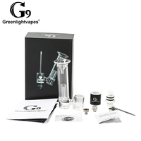 Greenlightvapes G9 510 rig E Nail Heating Head Atomizer Dry Herb Wax Vaporizer Water Glass Pipe Dab Bubbler E cigarette Vape