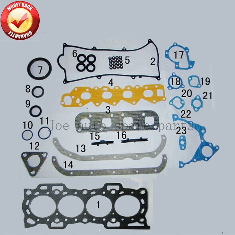 HC HD HCE HDC Двигатели для автомобиля полный комплект прокладок Комплект для daihatsu feroza/Monitor/аплодисменты/fourtrak/taruna 1.3l 1.6l 88-00 50120700 430054 P