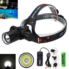 Underwater 100M Headlamp 6000 Lumen CREE XM-L T6 LED Diving Headlight Torch Swimming Scuba Dive Lamp цена