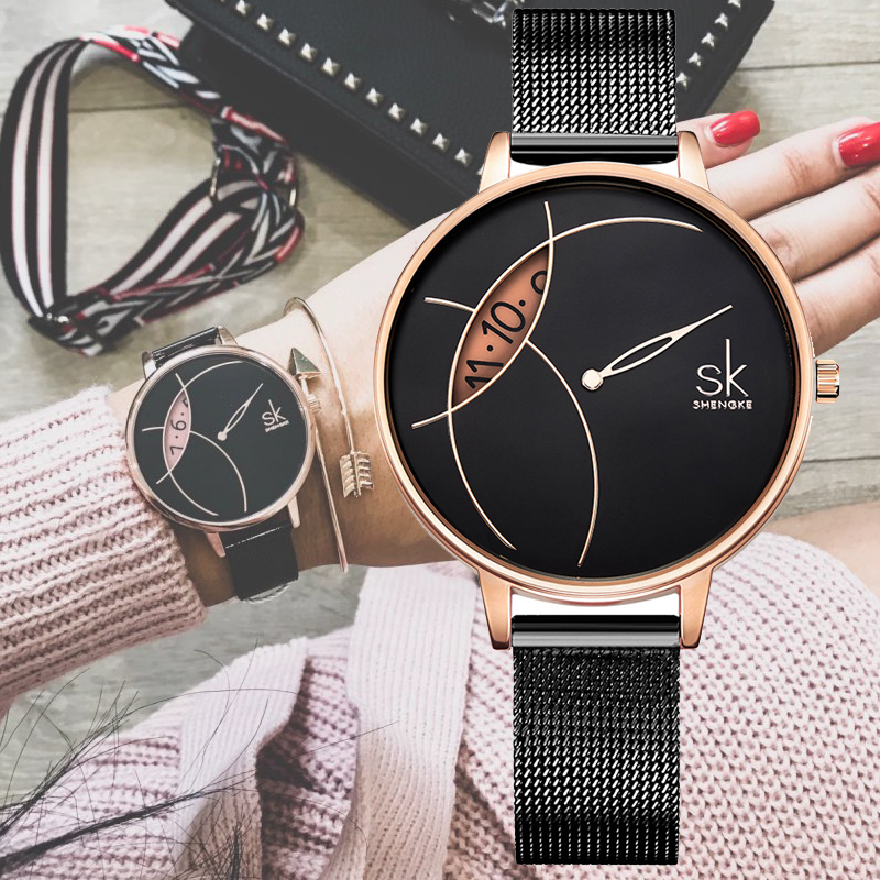 Shengke Watch Women Luxury Brand Women's Quartz Wrist Watch For Reloj Mujer Ladies Watches Female Clock 2019 Relogio Feminino
