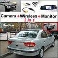 3 in1 Специальные Wi-Fi Камера Заднего вида + Беспроводной Приемник + зеркало Монитор Резервного Парковочная Система Для Renault Megane 1 1995 ~ 2002