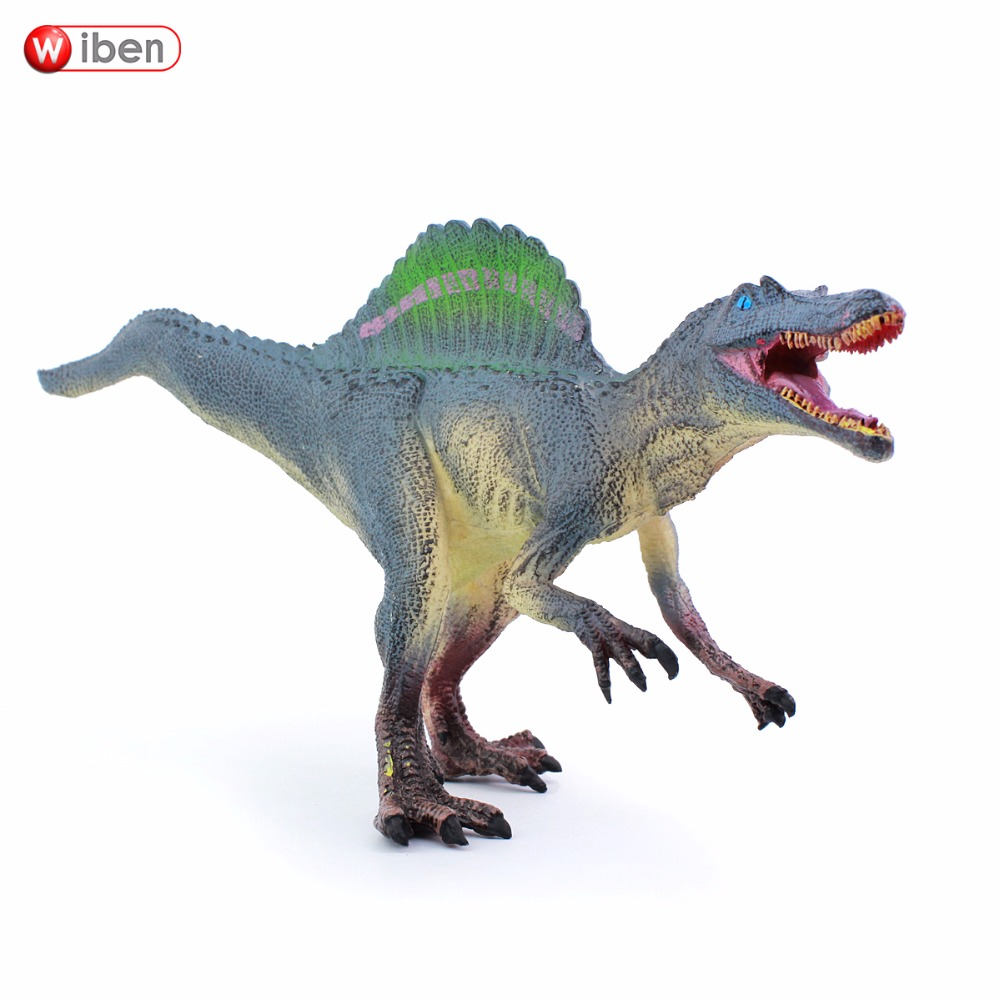 Wiben Jurassic Spinosaurus Dinosaur Toys  Action Figure Animal Model Collection Learning & Educational Children Toy Gifts wiben jurassic carnotaurus action figure animal model collection vivid hand painted souvenir plastic toy dinosaur birthday gift