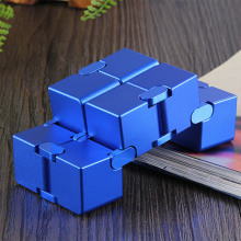 infinity cube aluminium Cube Toys Premium Metal Deformation Magical Infinite stress relief Stress Reliever for EDC Anxiety
