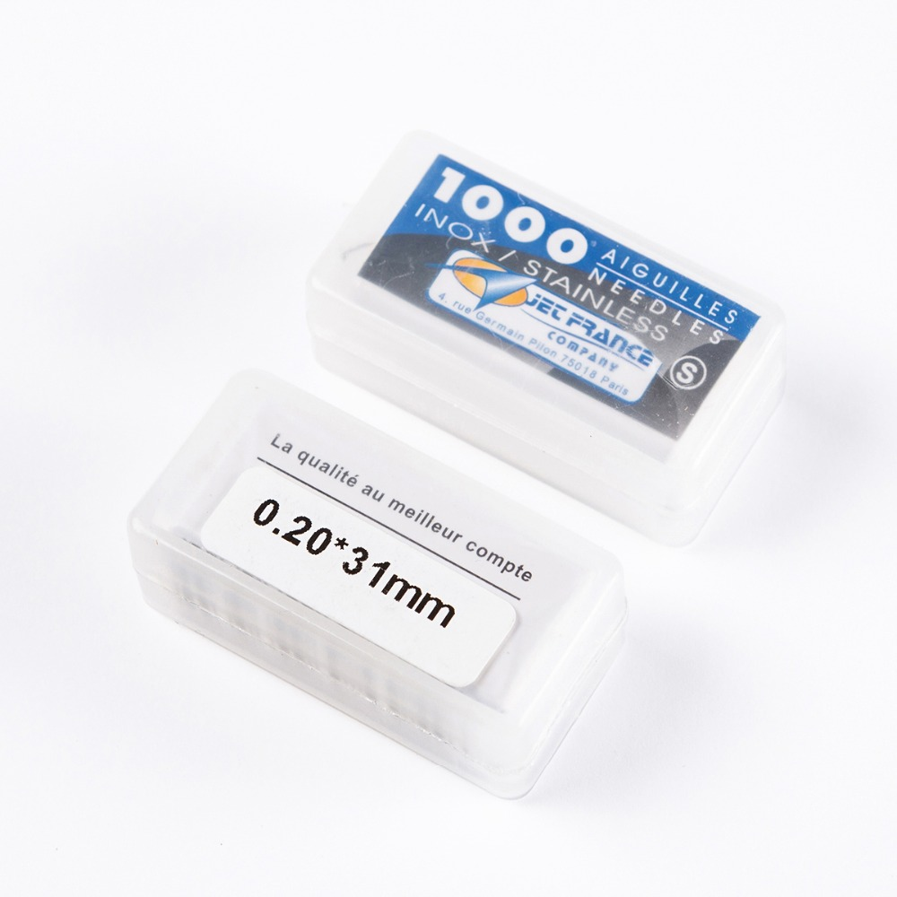 0.20 Mm-0.40 Mm *31 Mm Loose Tattoo Needles 316 Stainless Steel Sterile Aiguilles Jet France Tattoo Needles 1000 PCS/Pack