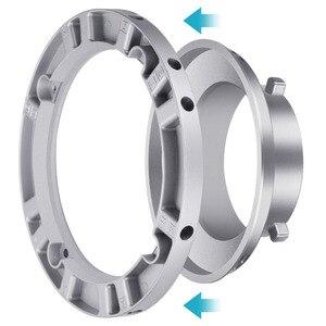 Адаптер для скоростного кольца Neewer, софтбокс для вспышки Bowens Monolight с мягким корпусом из алюминиевого сплава, внутренний диаметр 9,6 см