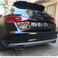 ABS Plastic Unpainted Rear Trunk Tail Wing Decoration For Audi A3 Hatchbackr Roof Spoiler 2014 2016
