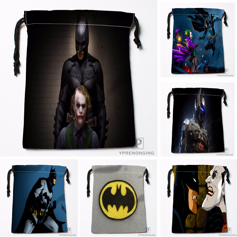 Custom Batman Vs Joker Drawstring Bags Printing Travel Storage Mini Pouch Swim Hiking Toy Bag Size 18x22cm#180412-11-69