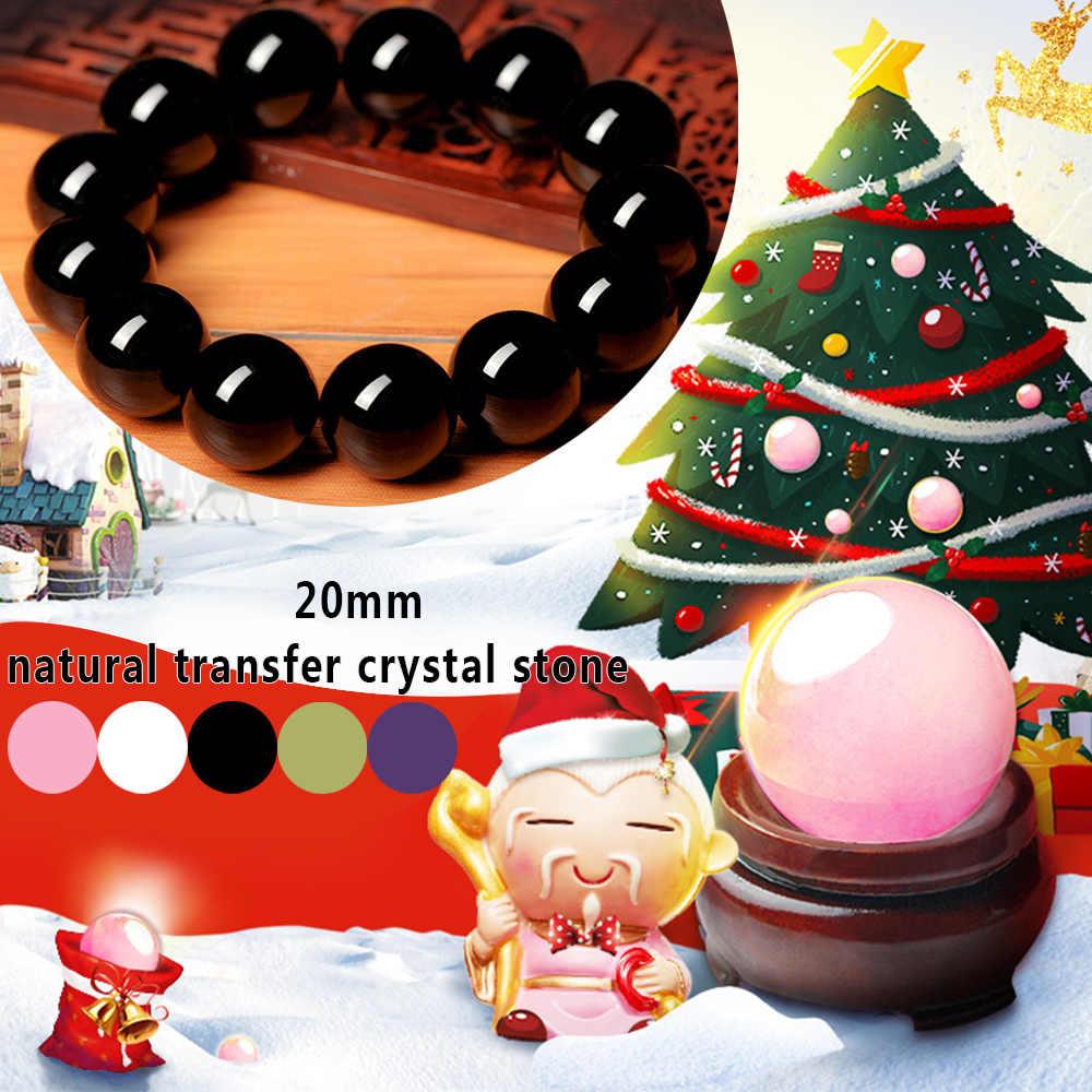 20 ミリメートルラウンド形状クリスタルボール黒曜石ハンドクラフト DIY 石ビーズ 5 色かわいいファッションホーム手作り宝石装飾装飾用