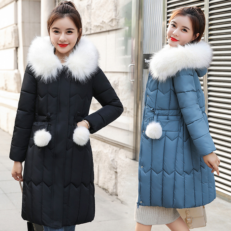 Winter Jacket Coats Warm Outwear Faux-Fur-Collar A-Hood Women Large XXXXL And for 9-Colors