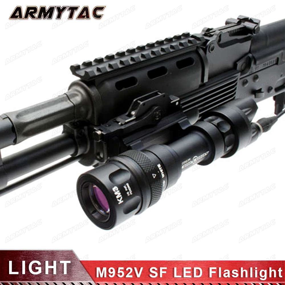 Tactical light M952V QD Quick Release Tactical Rifle LED Flashlight Mount Weapon Lights with 400 Lumens for Hunting Accessories element airsoft hunting military led weapon light flashlight pocket for rifle m952v gun tactical black 180 lumens ex 192