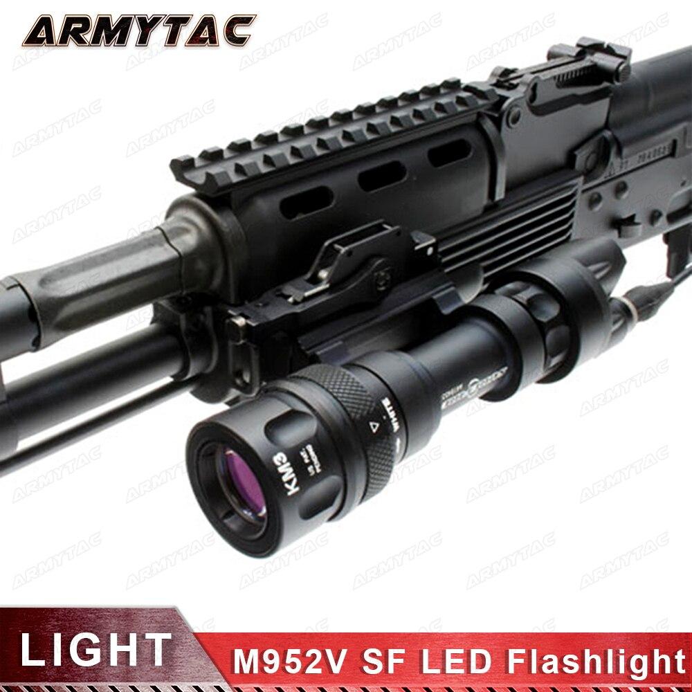 Tactique lumière M952V QD Libération Rapide Tactique Fusil LED lampe de Poche Montage Arme Lumières avec 400 Lumens pour La Chasse Accessoires