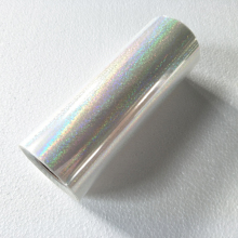 Holographic foil transparent Crystal point pattern stamping foil hot press on paper or plastic transfer film