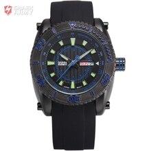 Shark Ejército Marca hombres Moda Sport Relojes Masculino Fecha Display Reloj de Pulsera Deporte Militar de Cuarzo Reloj de Los Hombres Caja de Regalo/SAW160