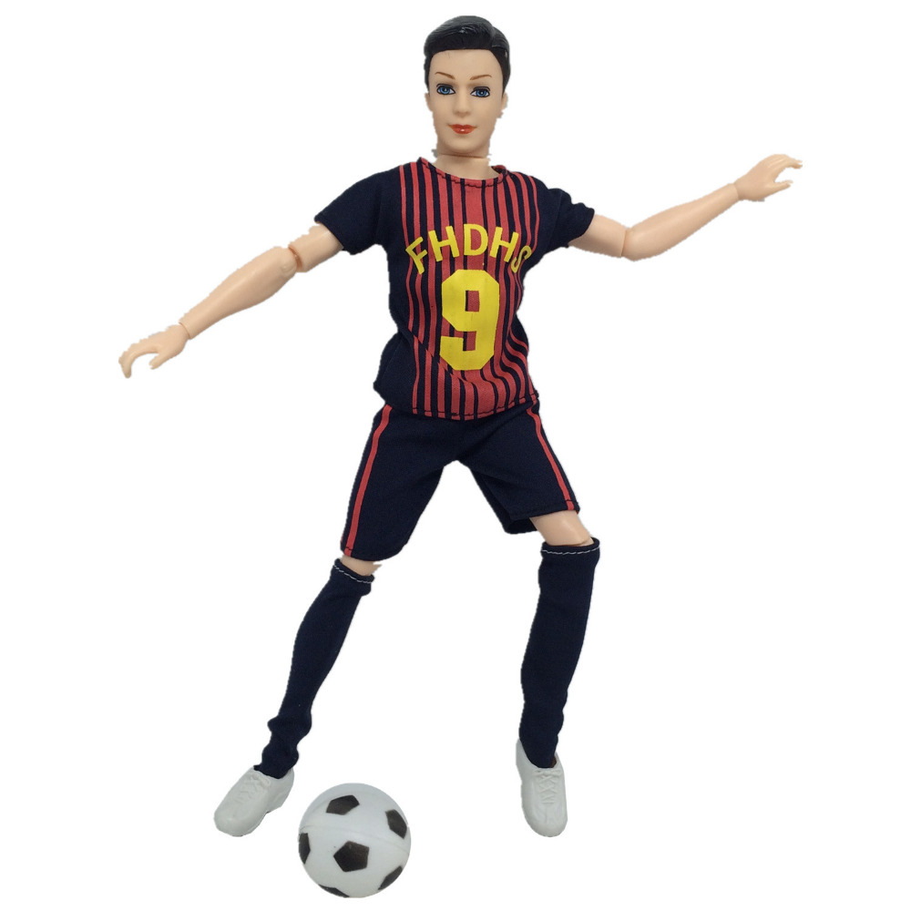 NK One Set   World Cup Male Footballer Doll Accessories With Sports Shirt Pants Sock  For Ken Doll Clothes  Makeup Toys
