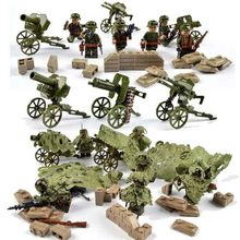 Police SWAT Military Figure Weapon World War II Marine Corps Army Soldiers Special Forces Building Blocks Sets Toys