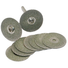 10 Pcs/ Set 30mm Diamond Coated Rotary Cutting Cut Off Blade Wheels Disc Kits New JA55 цена