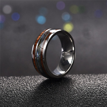 Jiayiqi Men Rings Stainless Steel Wood Grain Fashion Women Rings Male Jewelry Gifts 1