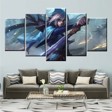 5 Panel LOL League of Legends Talon Game Canvas Printed Painting For Living Room Wall Art Decor HD Picture Artworks Poster недорго, оригинальная цена
