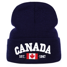 TUNICA  New Autumn Winter Knitted hats for men Women Canada Letter embroidery Cotton Caps hat Casual Boy cap Men Hats