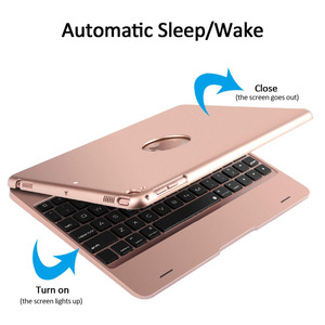 Image 4 - Клавиатура Чехол для iPad 9,7 2018 6th iPad 9,7 2017 5th, смарт Беспроводной клавиатура чехол для iPad Air 2, iPad Pro 9,7 дюйма Планшет