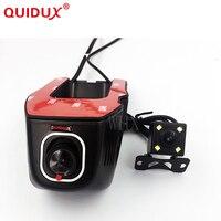 QUIDUX Novatek 96658 Dual Lens front rear view car DVR Car Wifi DVR Universal 1080P full HD Car Cam Control S ony Sensor