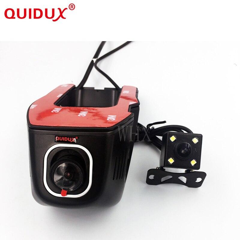 QUIDUX Novatek 96658 frente de Lente Dupla visão traseira do carro DVR Carro wi-fi DVR Universal 1080 P full HD Cam Carro Sensor de Controle-S ony