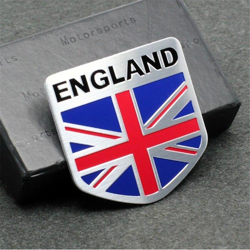 3D aluminum ENGLAND letter Emblem Badge Decal Car sticker British flag union jack nation car-styling For subaru Volvo ford skoda auto chrome camaro letters for 1968 1969 camaro emblem badge sticker