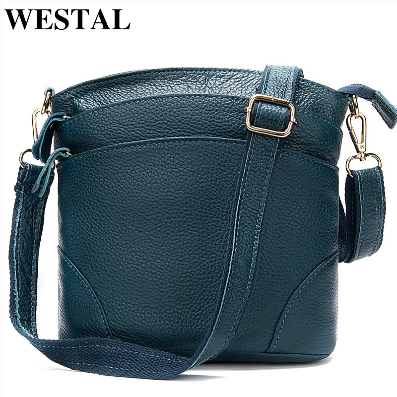 WESTAL Women's Shoulder Bag Genuine Leather Handbag Small Women's Bag Female Crossbody Bags For Women Summer Bolsa Feminina 836