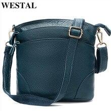 WESTAL حقيبة كتف نسائية جلد طبيعي حقيبة يد صغيرة للنساء حقيبة الإناث حقائب كروسبودي للنساء الصيف بولسا الأنثوية 8363