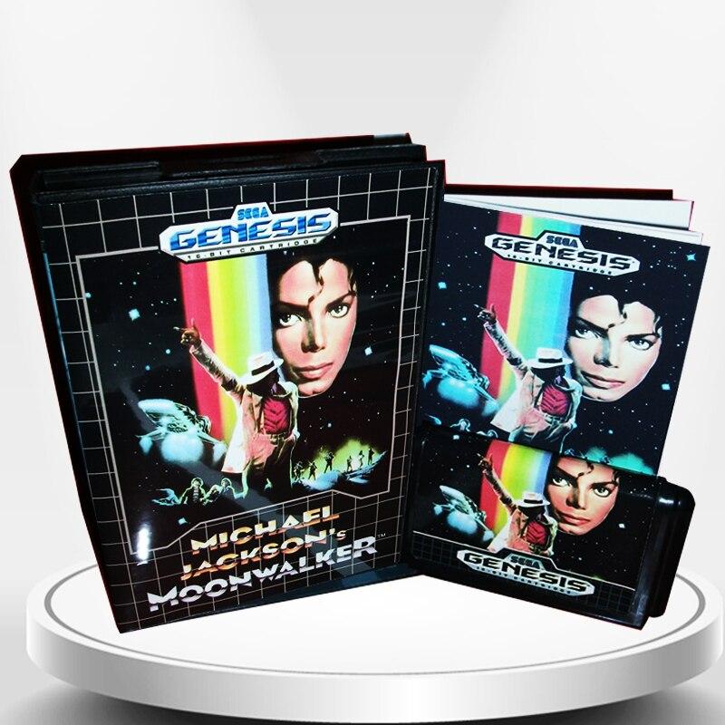 Ordentlich Michael Jackson Der Moonwalker Uns Abdeckung Mit Kasten Und Handbuch Für Md Megadrive Genesis Videospielkonsole 16 Bit Md Karte Einfach Zu Verwenden Speicherkarten Videospiele