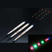 New 2pcs Full Electric Fishing Float With 5 Lights+2pcs CR425 Battery Deep Water Float Fishing Tackle Fishing Bobber