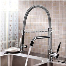 Modern Luxury New Deck Mounted Polished Chrome Brass Kitchen Faucet Single Handle Sink Mixer Tap