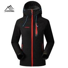 SAENSHING флисовая куртка Для женщин бренд Водонепроницаемый дождевик открытый Пеший Туризм Костюмы женский ветрозащитный мягкая оболочка из флиса Куртки