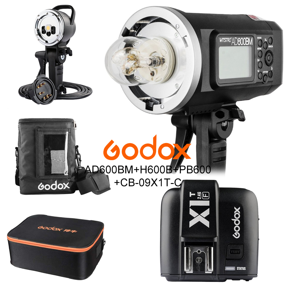 <font><b>Godox</b></font> <font><b>AD600BM</b></font> 600W HSS 1/8000 2.4G Wireless Outdoor flash+X1T-F+AD-H600B+PB-600+CB-09 Kit For Fujifilm X-Pro2,X-T20,X-T2,X-T1, image