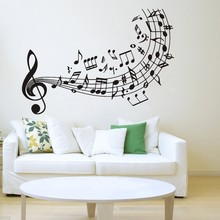 цена на Quality Music Wall Decal Vinyl Sticker Music Notes Treble Clef Art Decor Home Decoration Wall Mural Vinyl Art Wall Paper ES-76