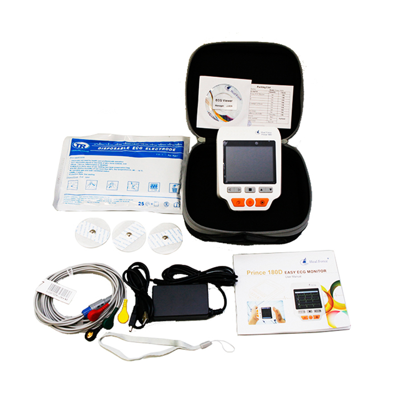Heal Force PC-180D Advanced Handheld ECG Monitor Portable LCD Electrocardiogram Heart Monitor Monitoring Health Care Machine heal force advanced handheld eg monitor mini portable lcd electrocard free software 80a holter machine medical equipment