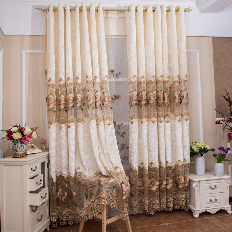 elegant european style curtain for living room in curtains