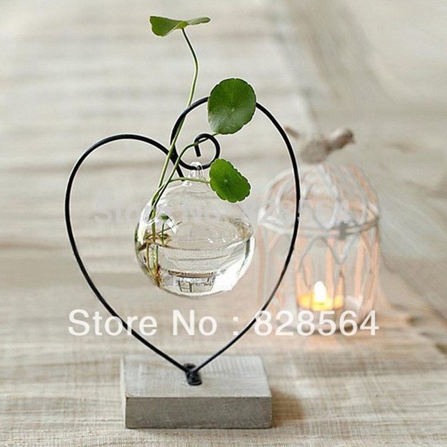 Wedding Decoration Home Decorations Explosion Models Heart Shaped Glass Vase Flower Hydroponic Fresh Decor